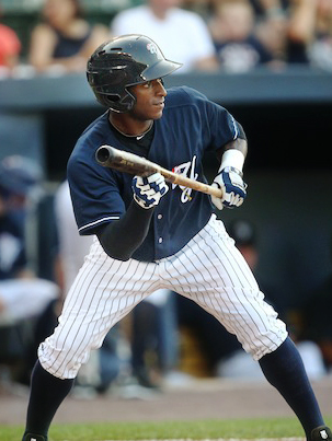 SWB Yankee Greg Golson Prepares to bunt. How to sacrifice bunt. Sacrifice bunting is a valuable skill.