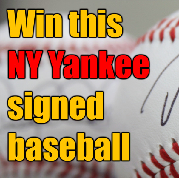 Pro Baseball Insider is giving away a Yankee signed baseball, autographed by David Robertson. Drawing is Nov 16, 2012