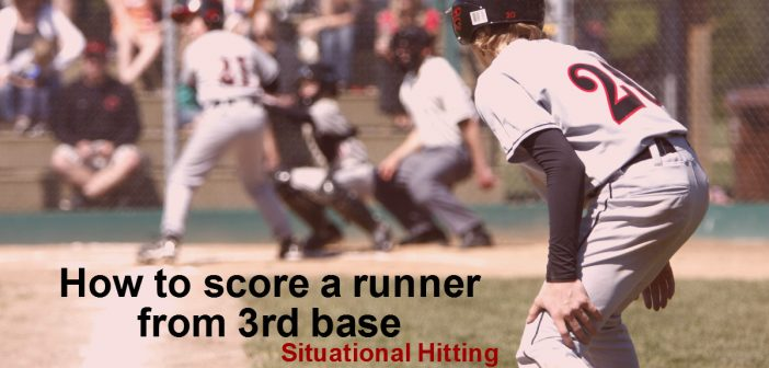 situational hitting, how to score a runner from third base, baseball strategy